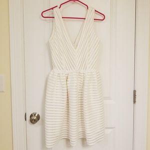 BAR lll White Bubble Skirt Dress Sz M